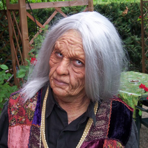 old witch prosthetic makeup platsil gel 10